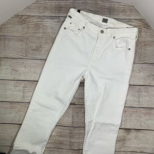 Citizens Of Humanity Jeans - C of H Rocket Crop High Rise White Skinny Jeans